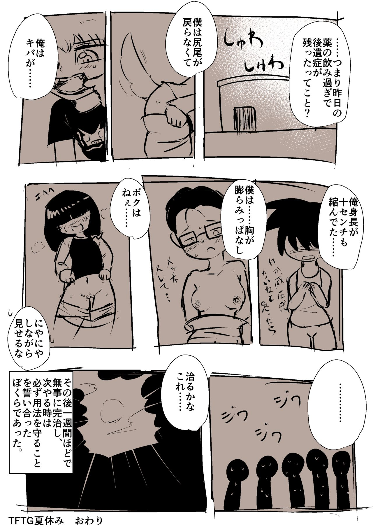 [日文a漫]【tftg】おとこのこたちがメスケモになる漫画【獣化性転换